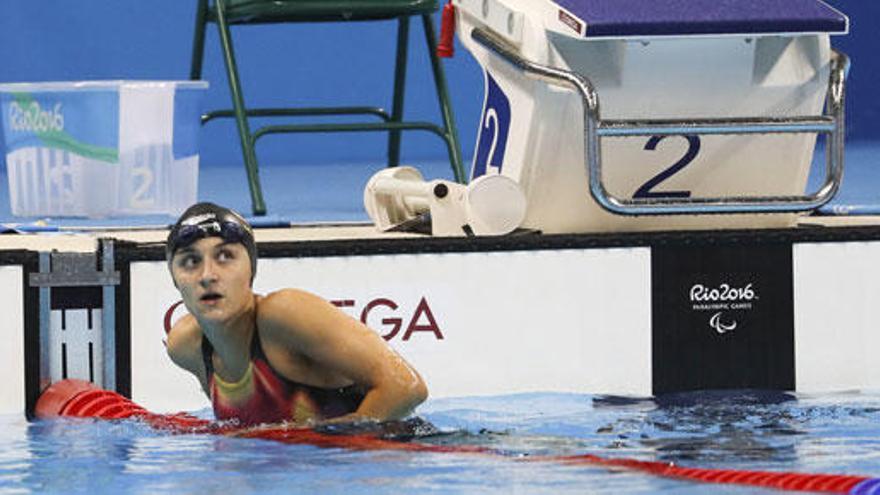 María Delgado, bronce en los 50 metros libres S12