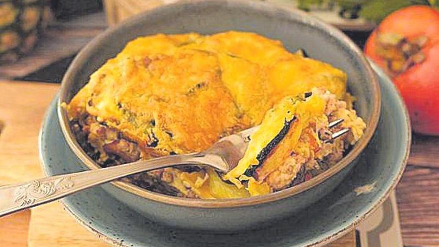 Pastel de carne con hortalizas