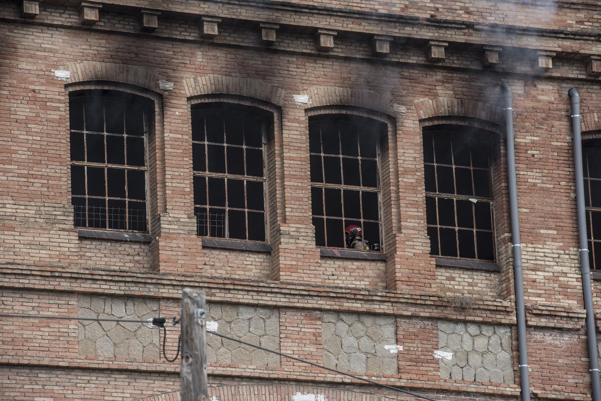 Incendi a la Fàbrica Nova de Manresa