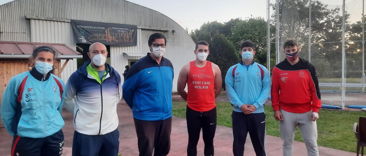 Los lanzadores gallegos regresaron a Vila Nova da Cerveira nueve meses después