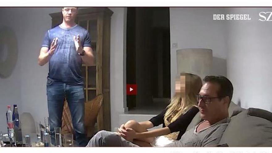Detenido el exvicencanciller de Austria por un vídeo grabado en Ibiza
