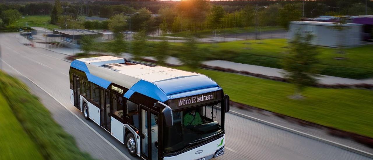 Un modelo de autobús que usa hidrógeno.
