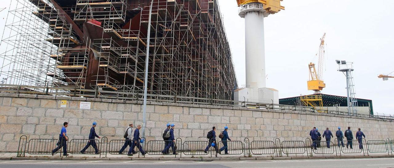 Imagen de los trabajos en el crucero Evrima, que genera unas deudas de 20 millones