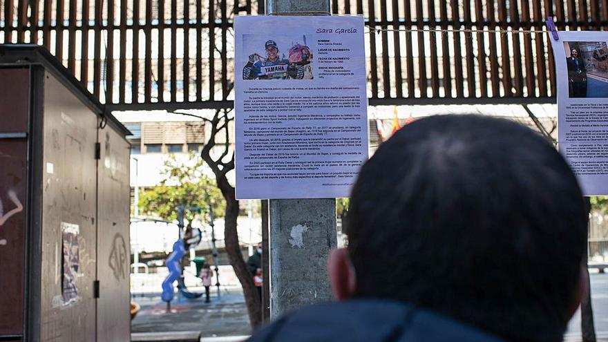 """""""Mujeres históricas y actuales"""", en la plaza de Castilla y León de Zamora"""