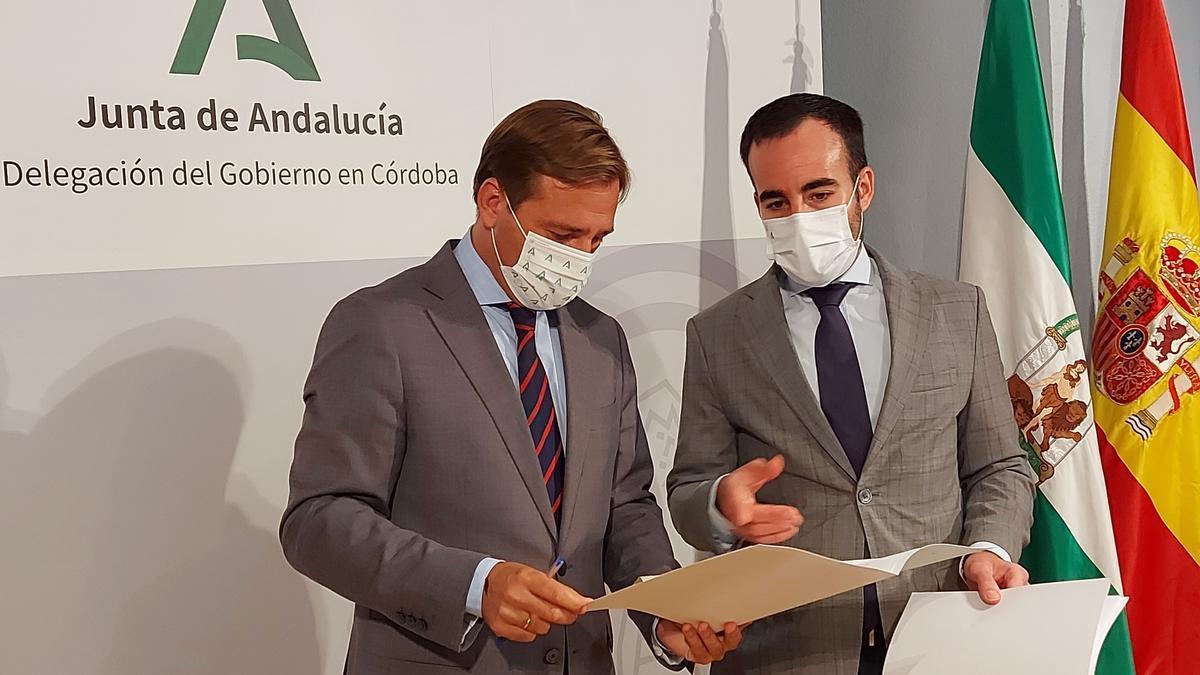 Antonio Repullo y Ángel Herrador en la rueda de prensa de este viernes.