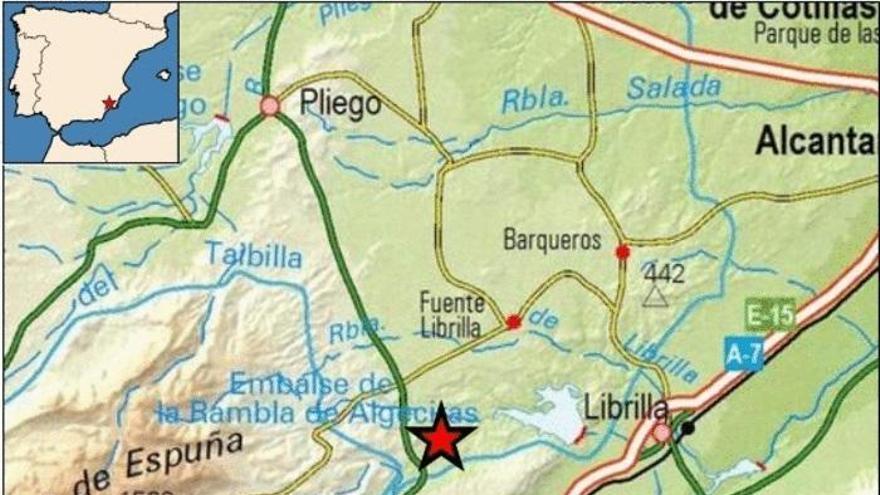 Un terremoto se deja sentir en Alhama de Murcia