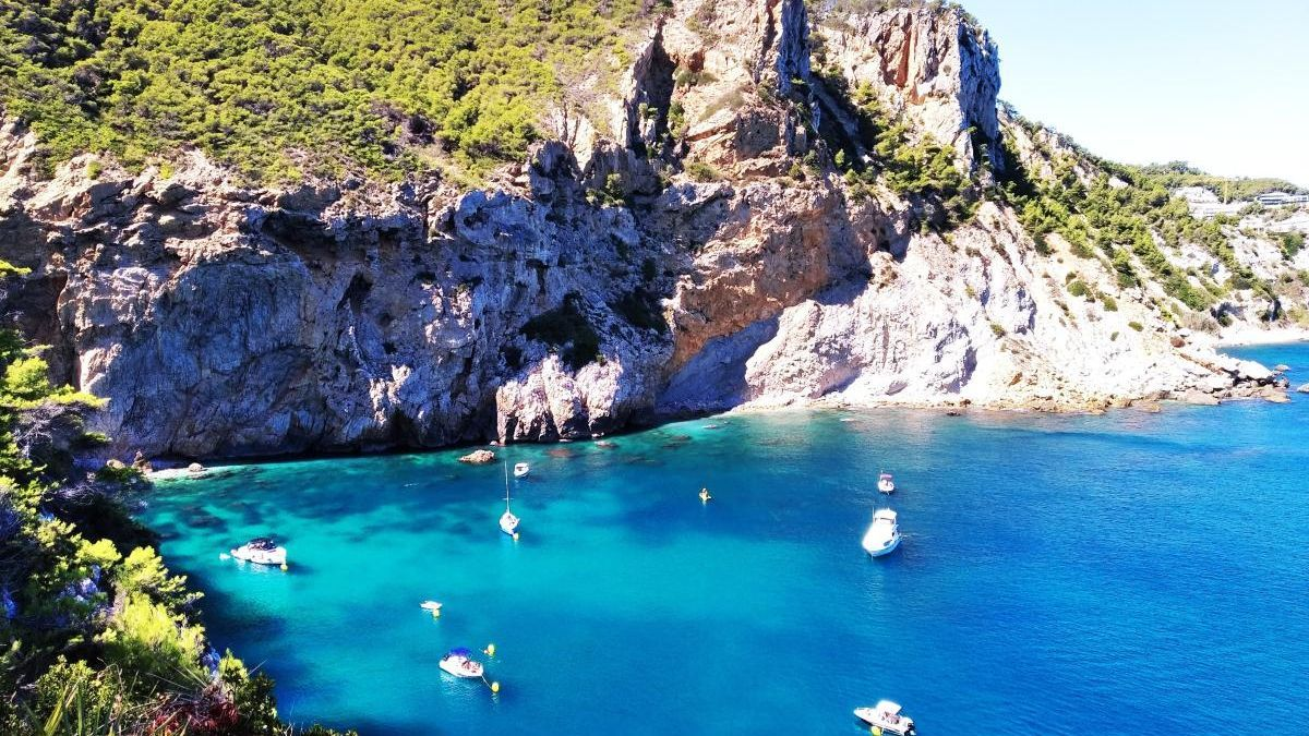 Espectacular mar turquesa en Xàbia