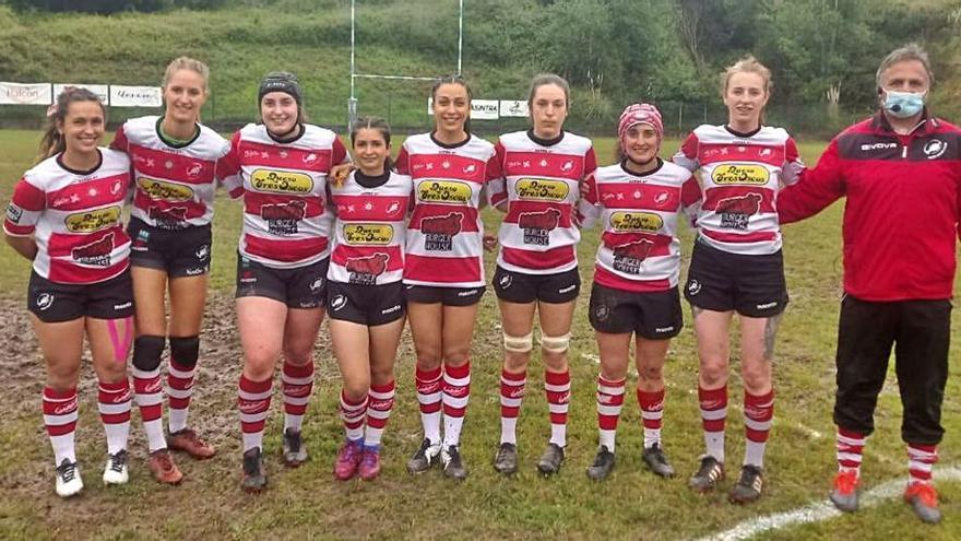 El Gijón Rugby femenino, bronce en el regional a siete