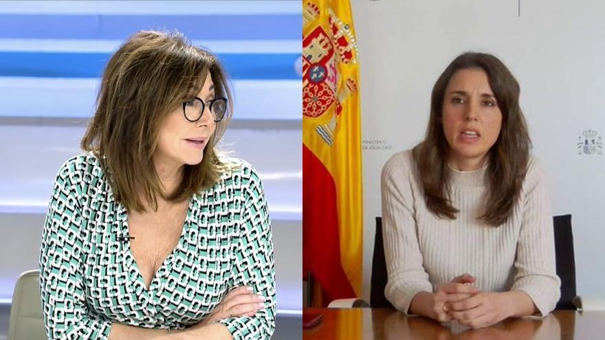 """Ana Rosa critica a Irene Montero por hablar de Rocío Carrasco: """"La ministra tertuliana se salta la presunción de inocencia"""""""