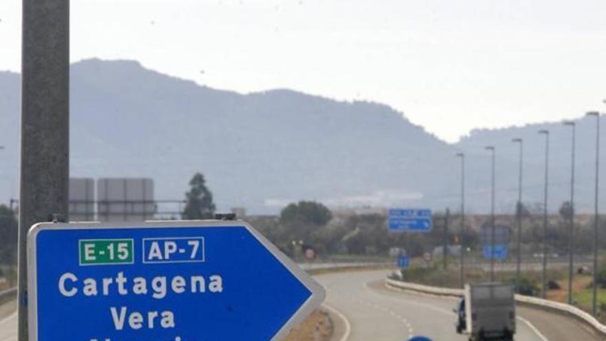 El peaje de la AP-7 Cartagena-Vera bajará un 30% el 15 de enero