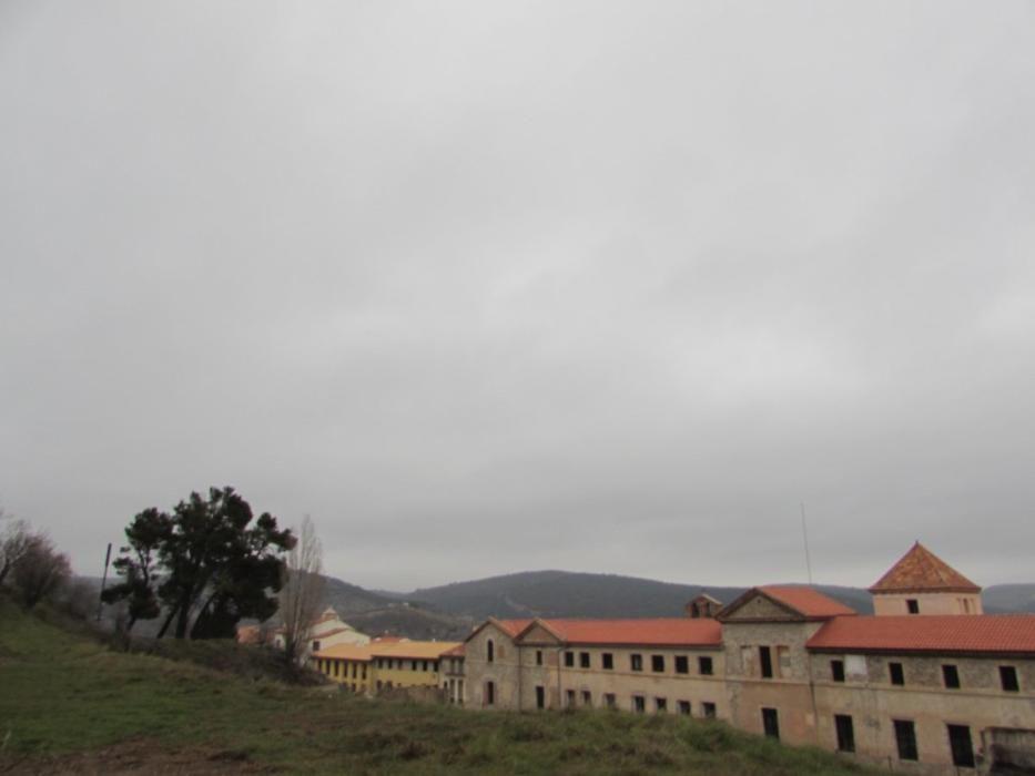 Polvo del Sahara disuelto en el agua de lluvia recogida en el pluviómetro de Morella.