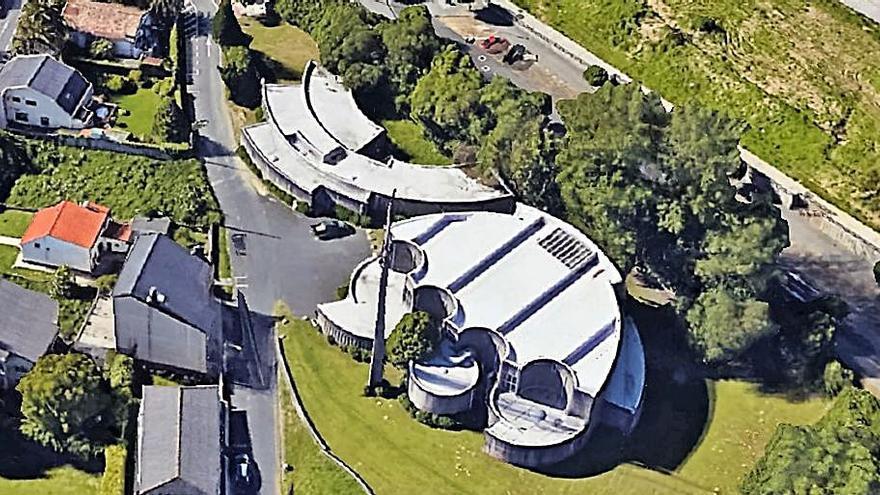 Vista de satélite del complejo parroquial. |   // L.O.