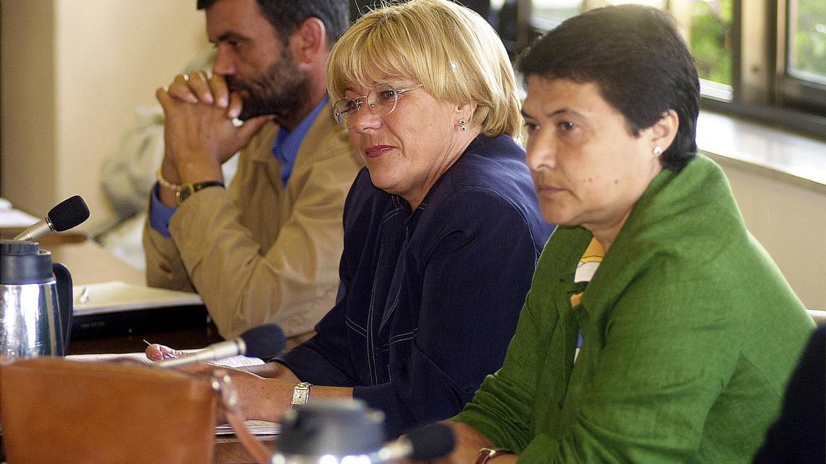 Isaura Abelairas durante un pleno del Concello de Vigo en el año 2000. De Arcos.jpg