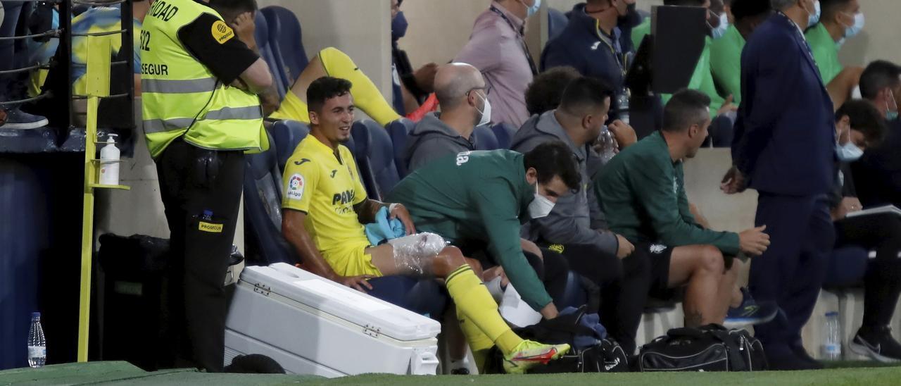 Yeremi Pino, tras ser sustituido el pasado miércoles en el partido del Villarreal ante el Elche.
