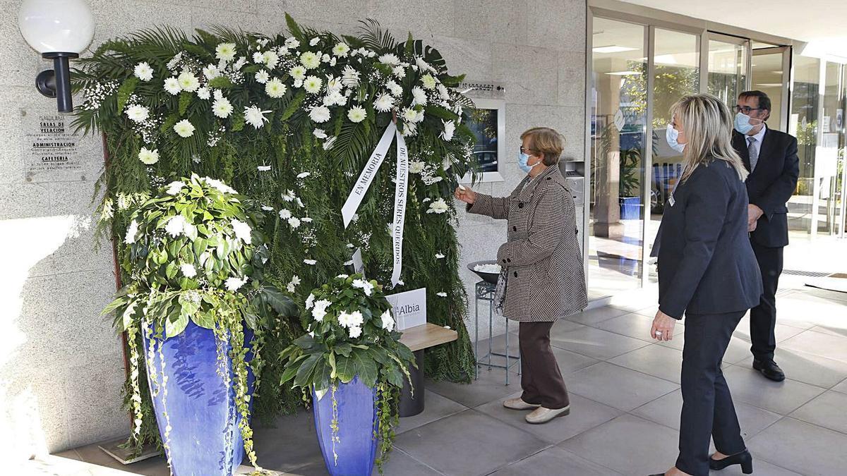 Emotivo homenaje de Emorvisa a las víctimas del Covid | ALBA VILLAR