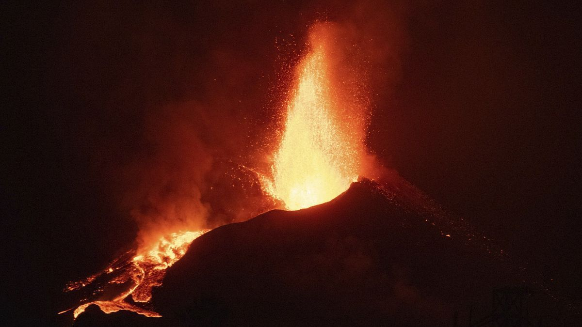 El volcà de Cumbre Vieja, en plena erupció