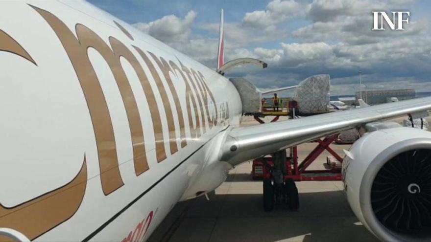 Un nuevo avión traslada más de 73 toneladas de material sanitario a la Comunidad Valenciana