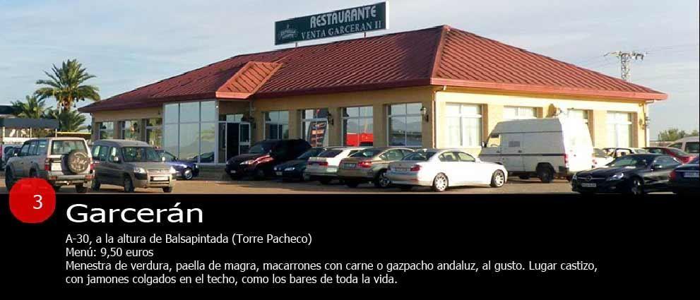 Restaurantes de carretera para comer como un rey en la Región de Murcia