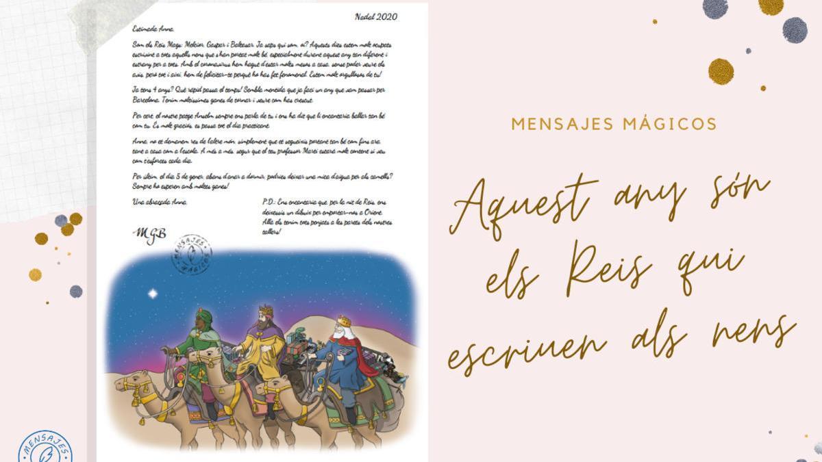 Una de les cartes dels Reis de l'Orient que es poden personalitzar  