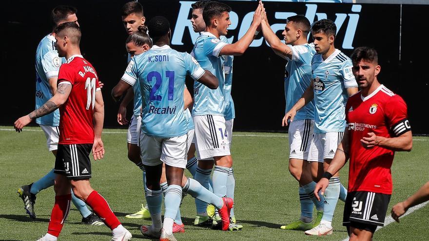 Valioso empate del Celta B ante el Burgos (1-1)