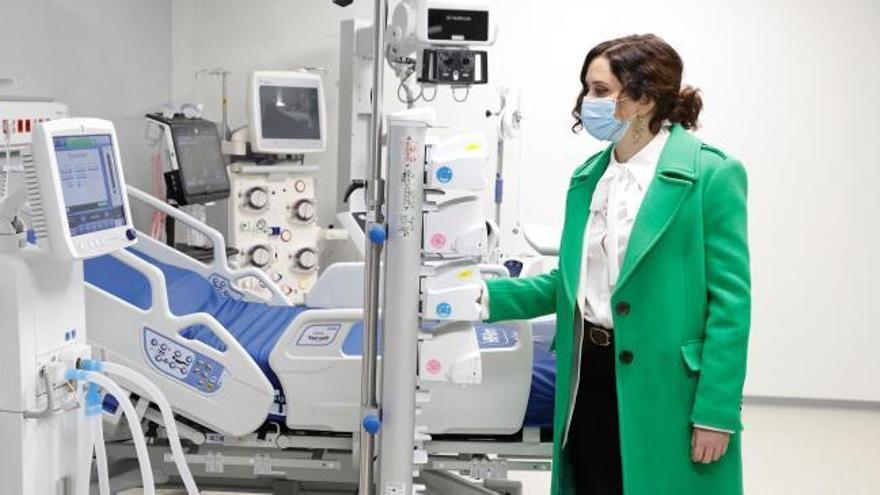 """Ayuso inaugura el hospital de pandemias """"para toda España"""""""