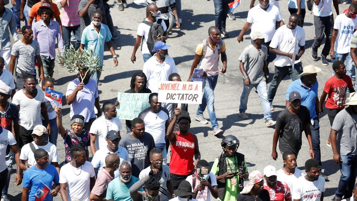 Protestas en Haití contra el presidente Jovenel Moise.