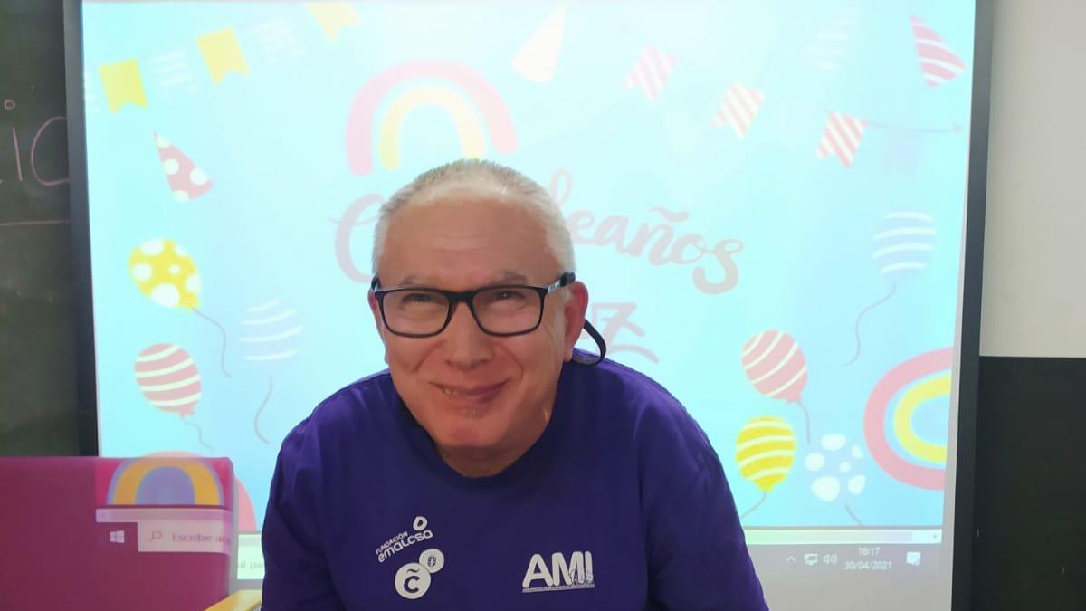 Manuel García en el día de su cumpleaños.