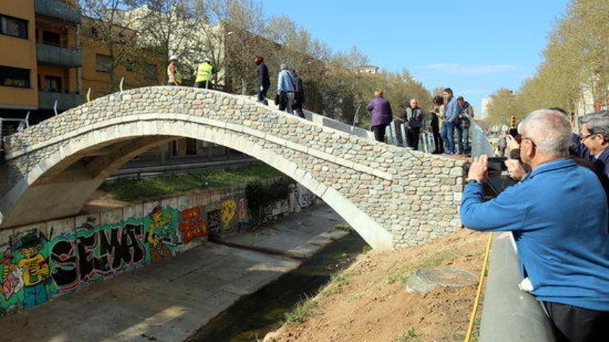 Girona obre el pont del Dimoni i recupera el llegat medieval del barri de Santa Eugènia