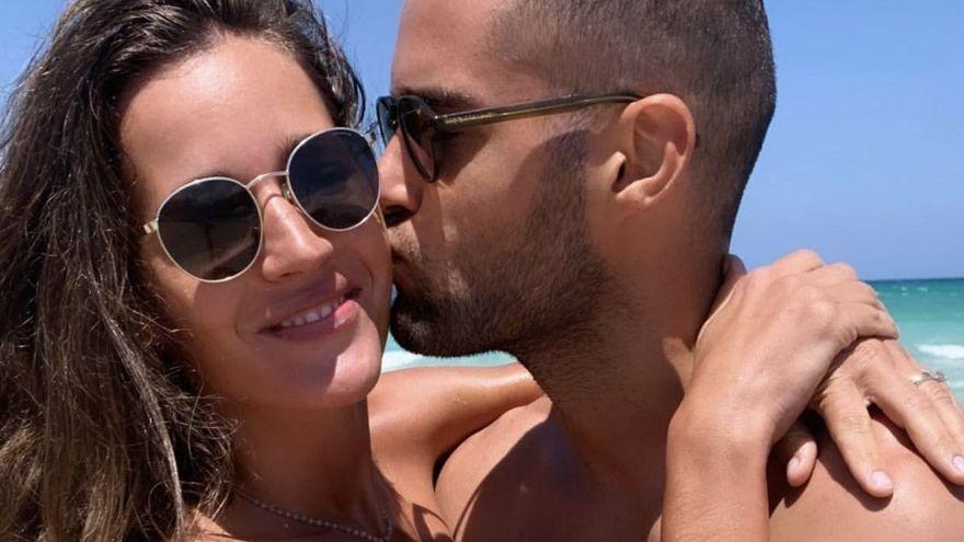 Días de playa y relax de Malena Costa y Mario Suárez
