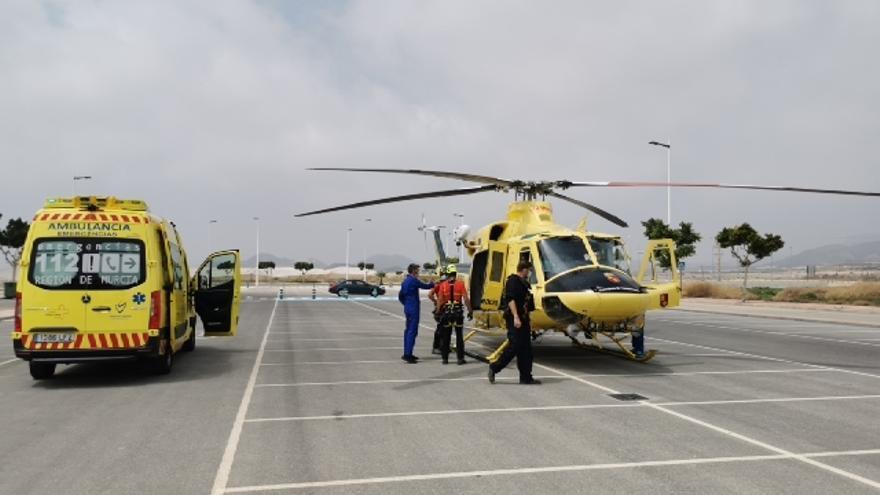 Rescatan en helicóptero a un senderista que había sufrido un golpe de calor en Mazarrón