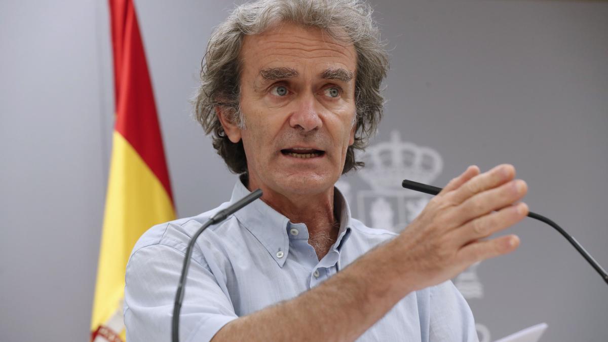 Fernando Simón durante la rueda de prensa sobre la evolución de la pandemia.