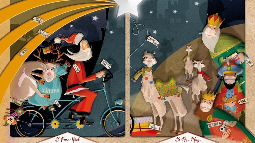 Xàtiva invita a los niños a escribir la carta a Papá Noel y los Reyes Magos en valenciano