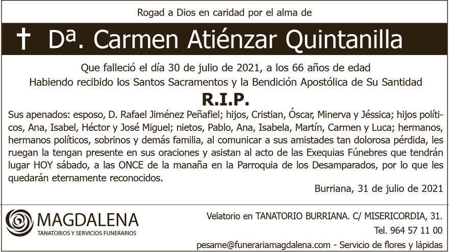 Dª. Carmen Atiénzar Quintanilla