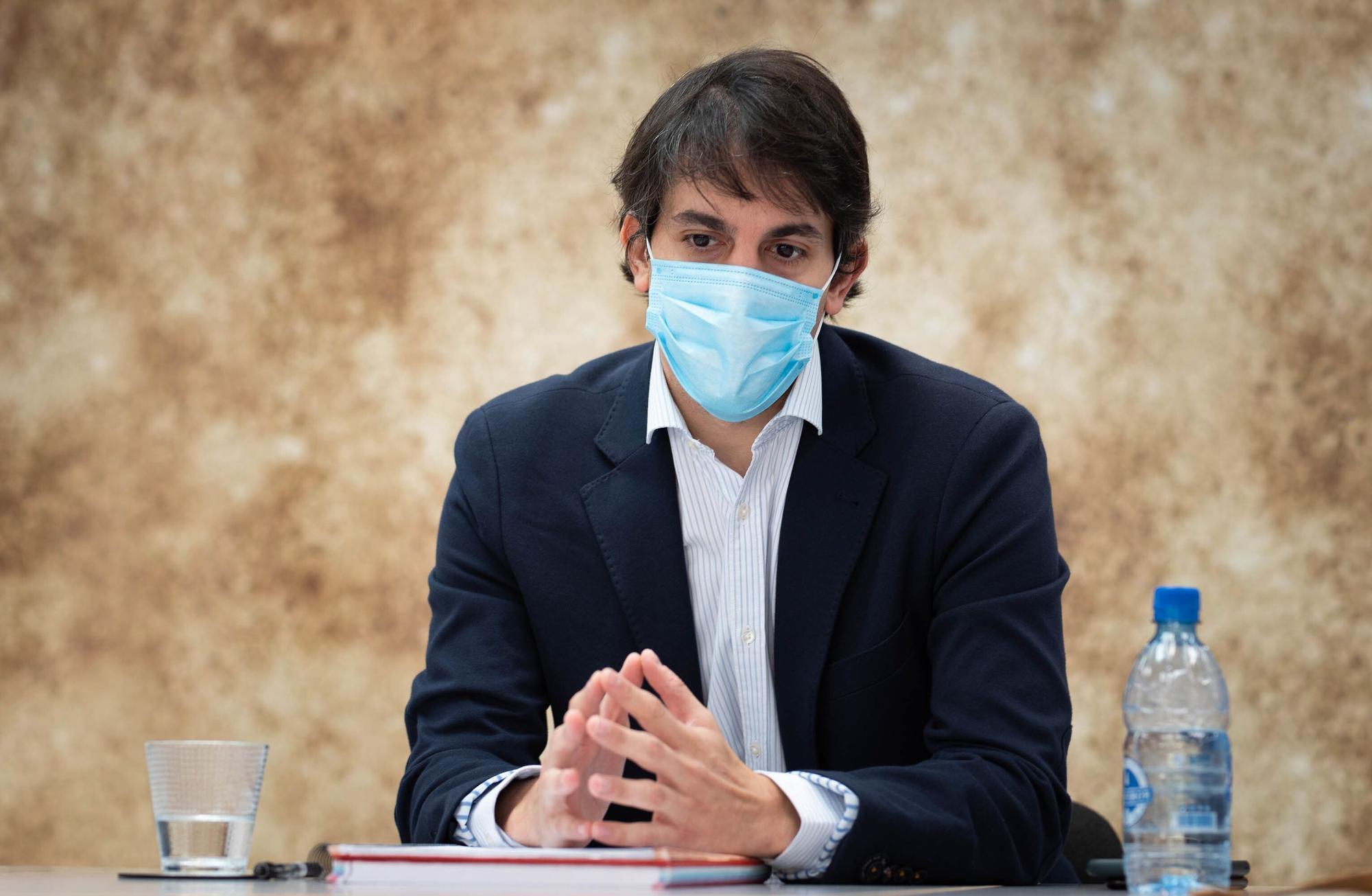 Visita de Pablo Hernández, presidente de la ZEC