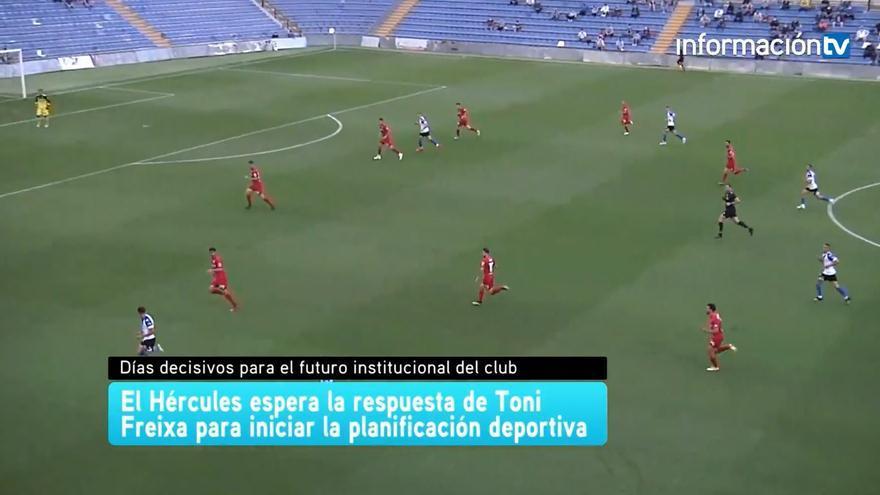 El Hércules espera la respuesta de Toni Freixa para iniciar la planificación deportiva