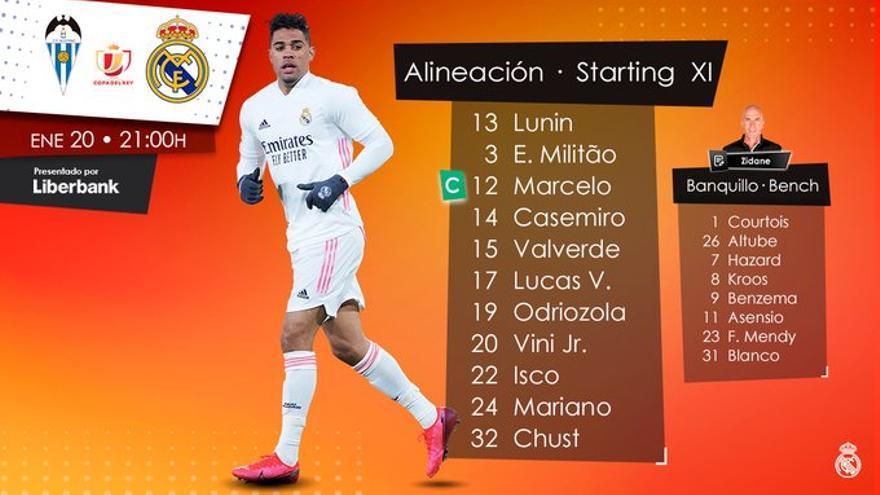 Casemiro, Lucas Vázquez y Valverde, titulares en el Madrid ante el Alcoyano