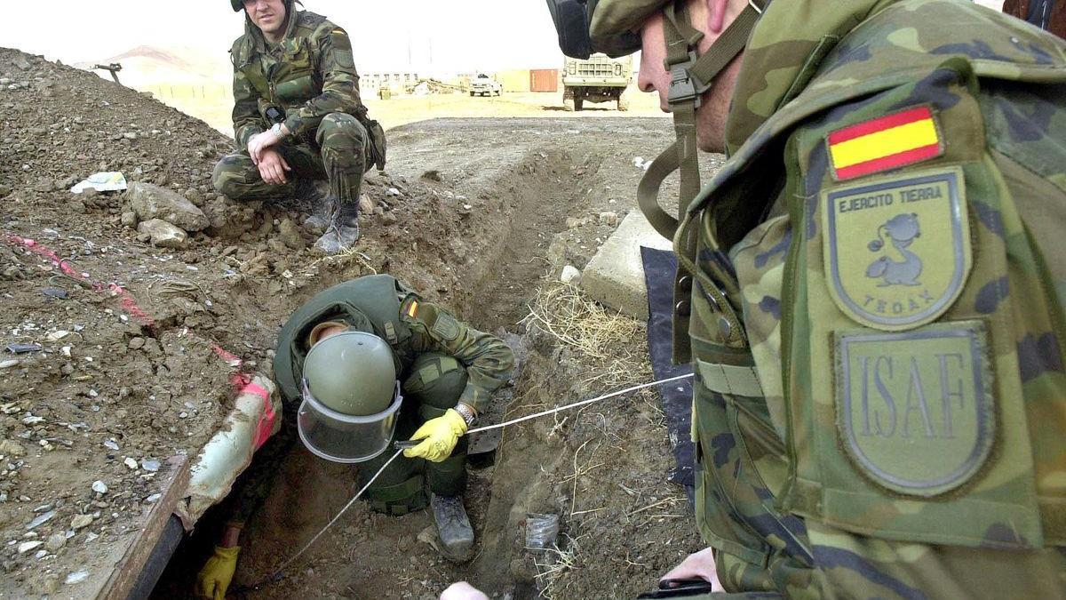 Imatge dels soldats enviats a l'Afganistan