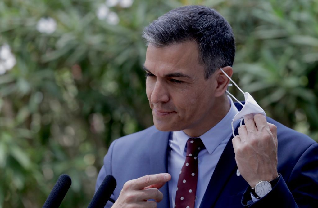 Despacho de Pedro Sánchez con el Rey en Marivent