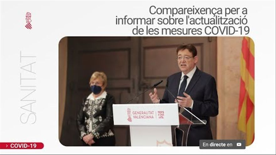 DIRECTO   Ximo Puig comparece para anunciar las nuevas medidas en la Comunitat Valenciana