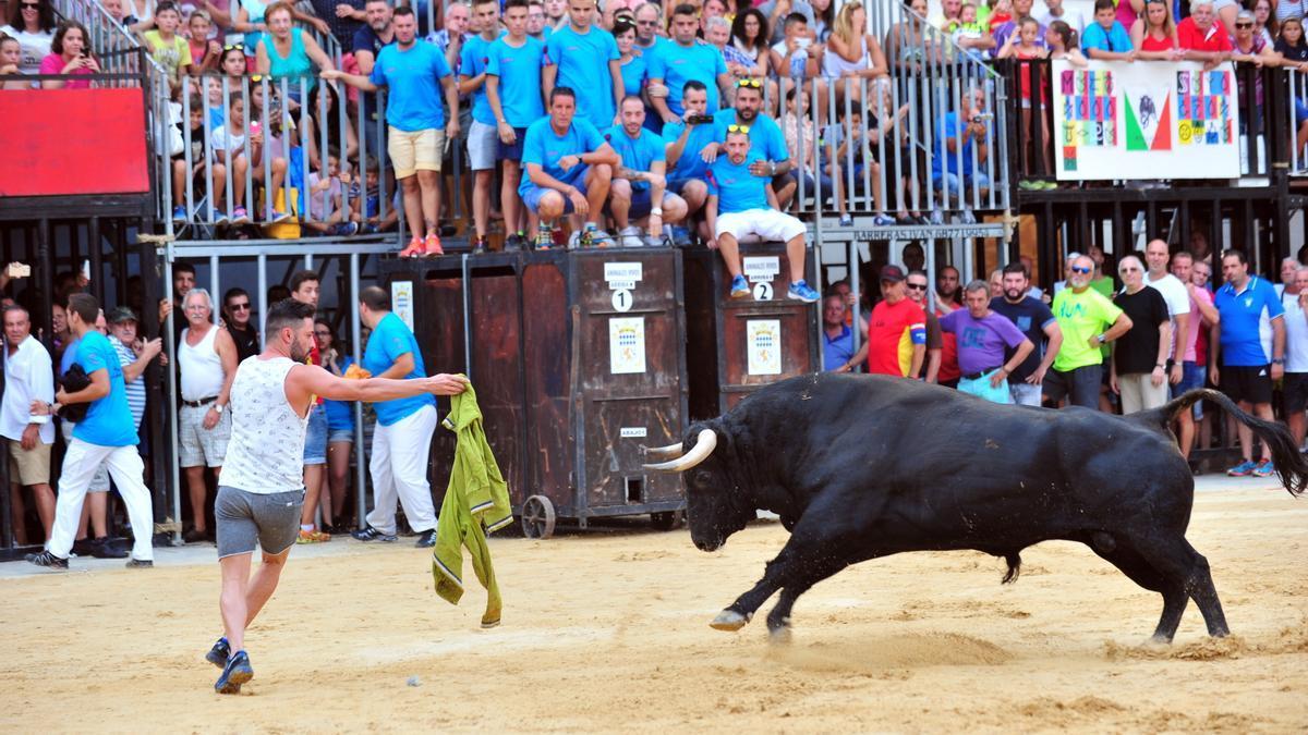 Imagen de un festejo taurino en la provincia de Castellón.