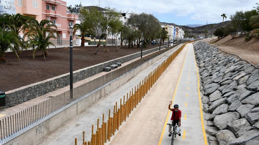 Mogán rehabilita el barranco de Pino Seco con paseo, área verde y carril bici