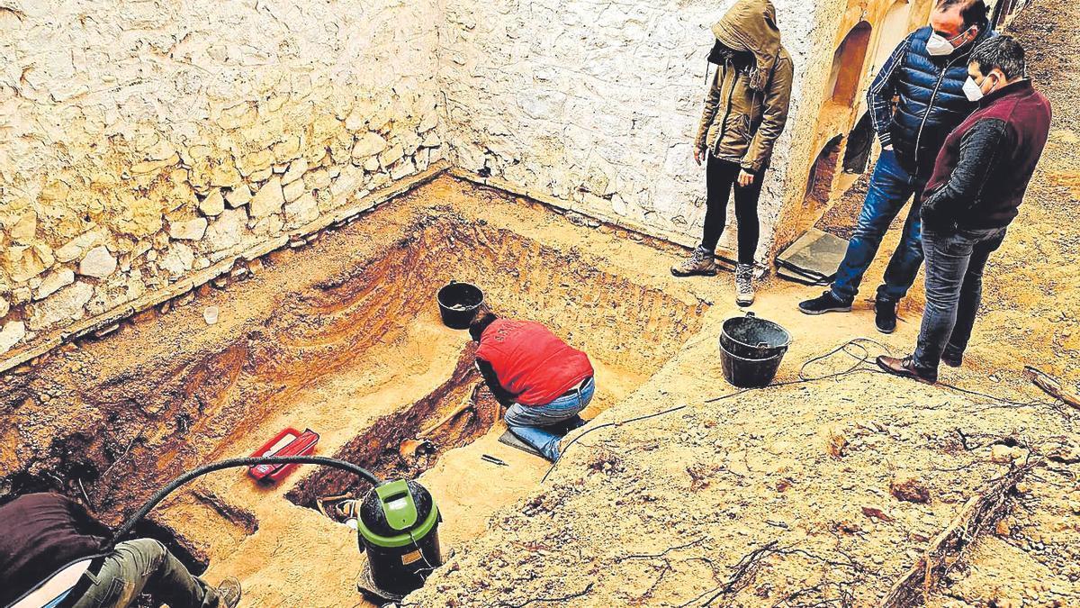 Exhumación de María Domínguez.