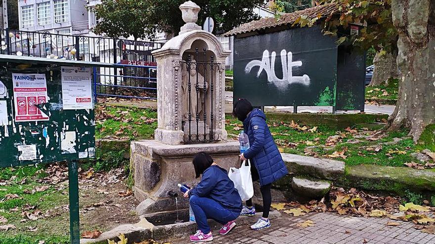 La Fonte da Raíña de Cedeira luce tras los trabajos de restauración