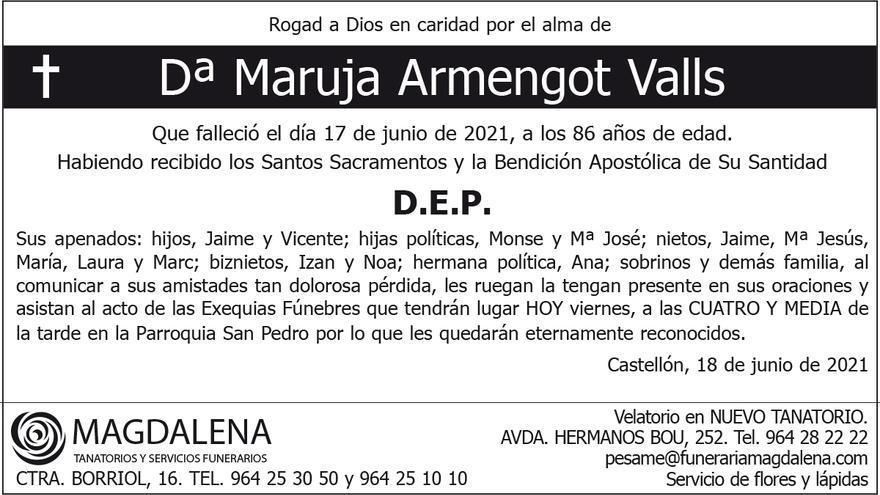 Dª Maruja Armengot Valls