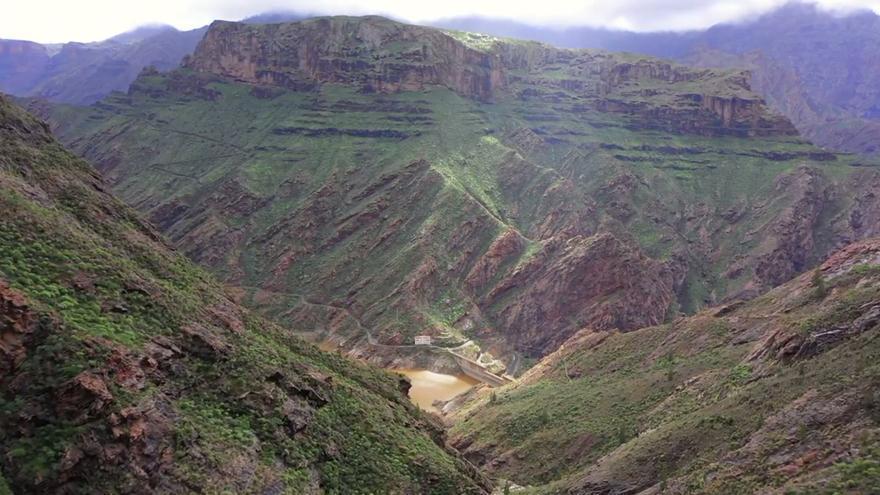 Así ha regado la borrasca Filomena Gran Canaria, a vista de pájaro