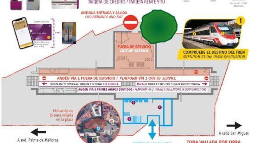 Renfe iniciará este miércoles la segunda fase de la estación de La Nogalera