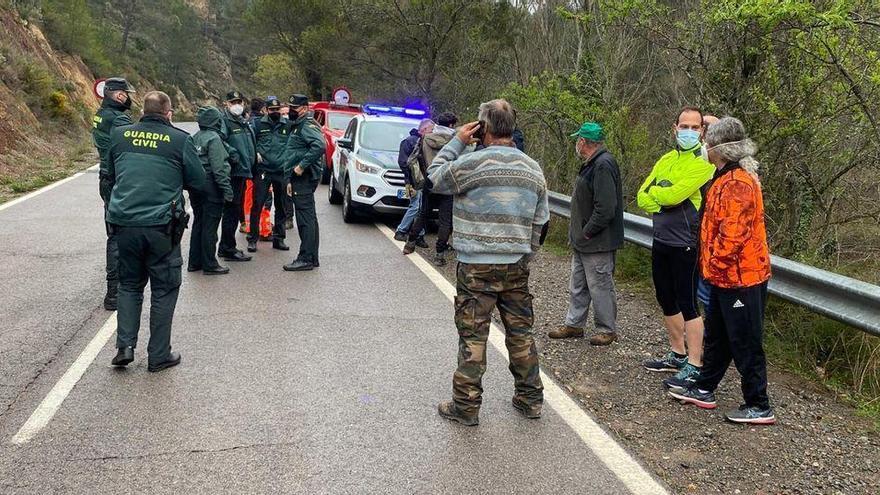 Aparecen en buen estado dos senderistas perdidos durante 15 horas en Algimia de Almonacid