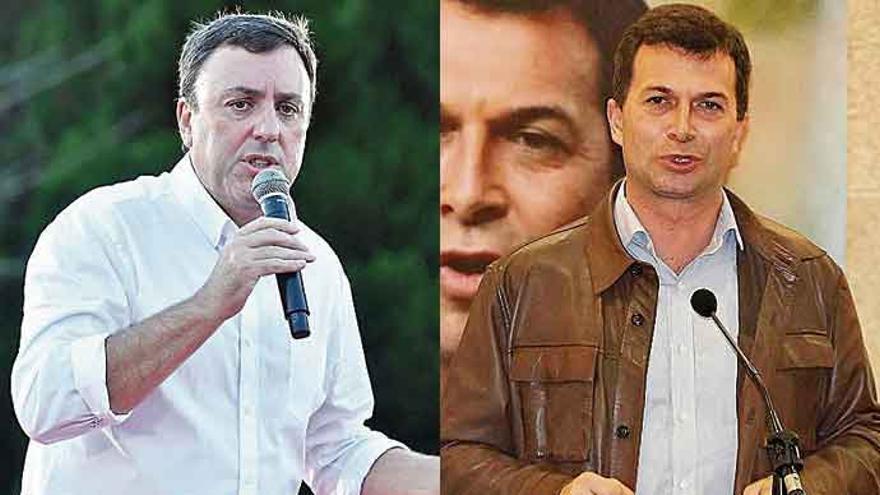 Valentín González Formoso y Gonzalo Caballero debaten hoy antes de las primarias del PSdeG