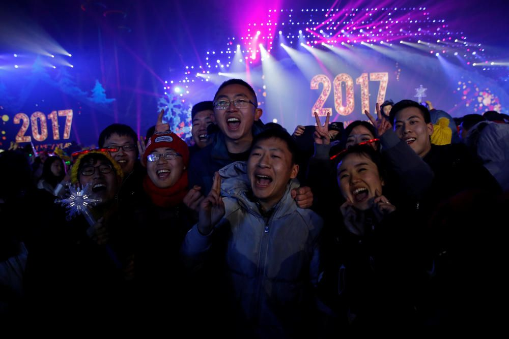 Cuenta atrás en Pekín, China.