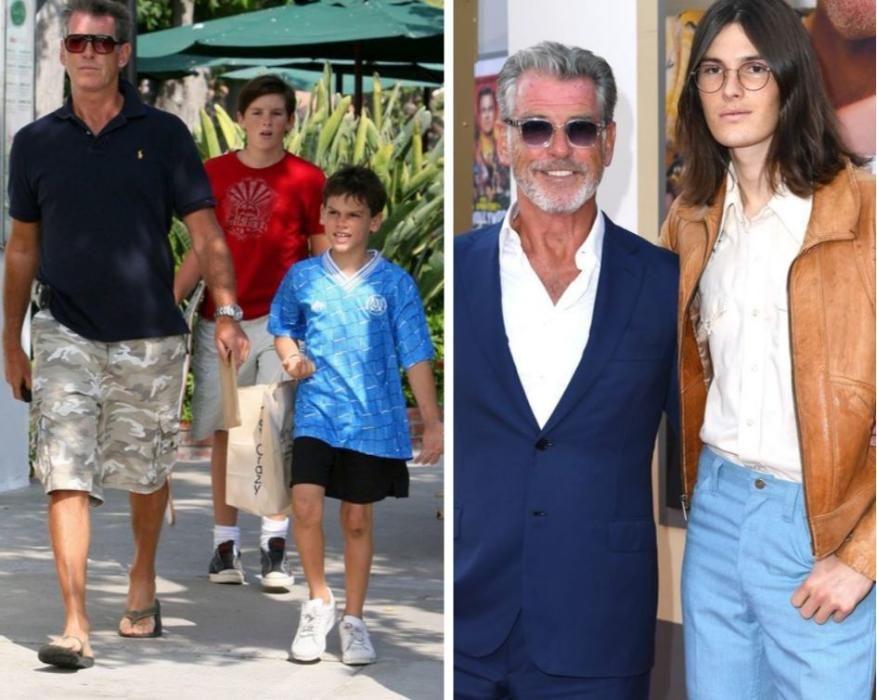 Tres de los cinco hijos de Pierce Brosnan, un ex 007 con licencia para procrear.